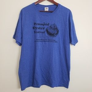 Fruit Of The Loom Blue Oyster Festival Tee Shirt